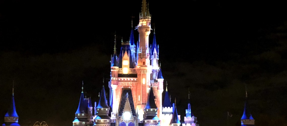 magic kingdom castle at night